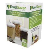 FoodSaver 3 Piece Round Canister Set