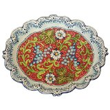 CERAMICHE D'ARTE PARRINI - Italian Ceramic Art Pottery Plate Serving Tray Grape Hand Painted Made in ITALY Tuscan