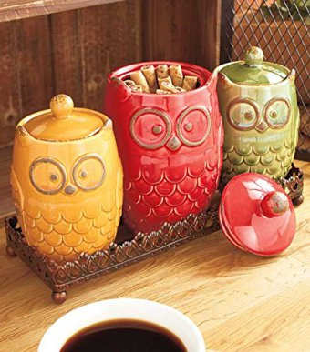 4-piece-owl-canisters-and-tray-set