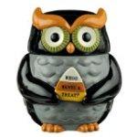 Grasslands Road Halloween Owl Cookie Jar