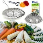 Vegetable Steamer Basket by Kitchen Deluxe Best Bundle