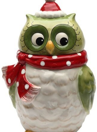 Cosmos Gifts 10901 Owl Design Ceramic Holiday Cookie