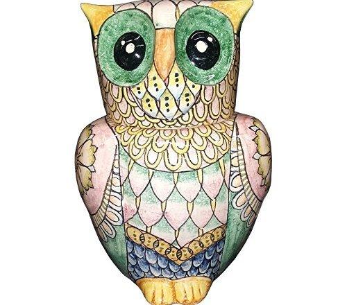CERAMICHE D'ARTE PARRINI Italian Ceramic Art Pottery Big Owl