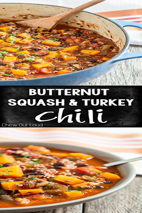 Butternut Squash and Turkey Chili