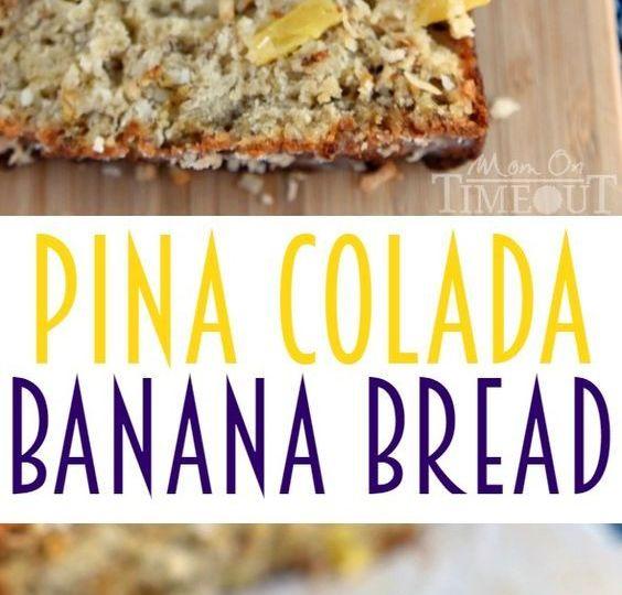Pina Colada Banana Bread Recipe