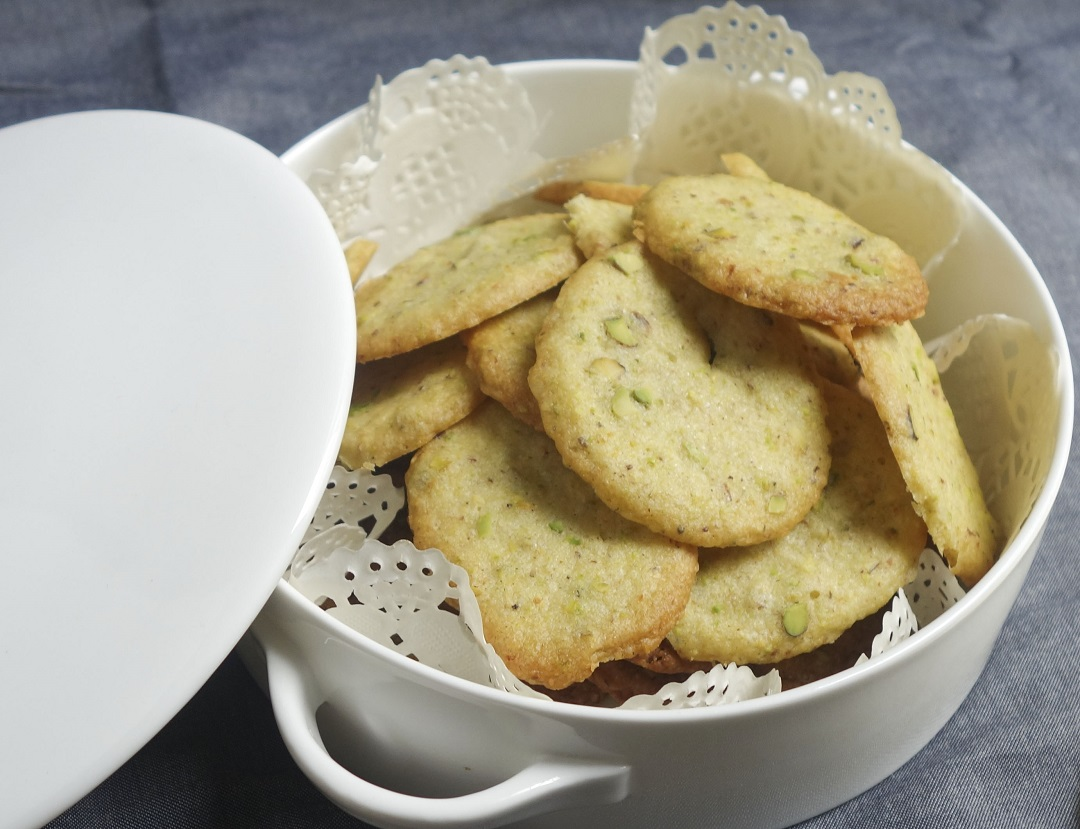 Pistachio chocolate cookies