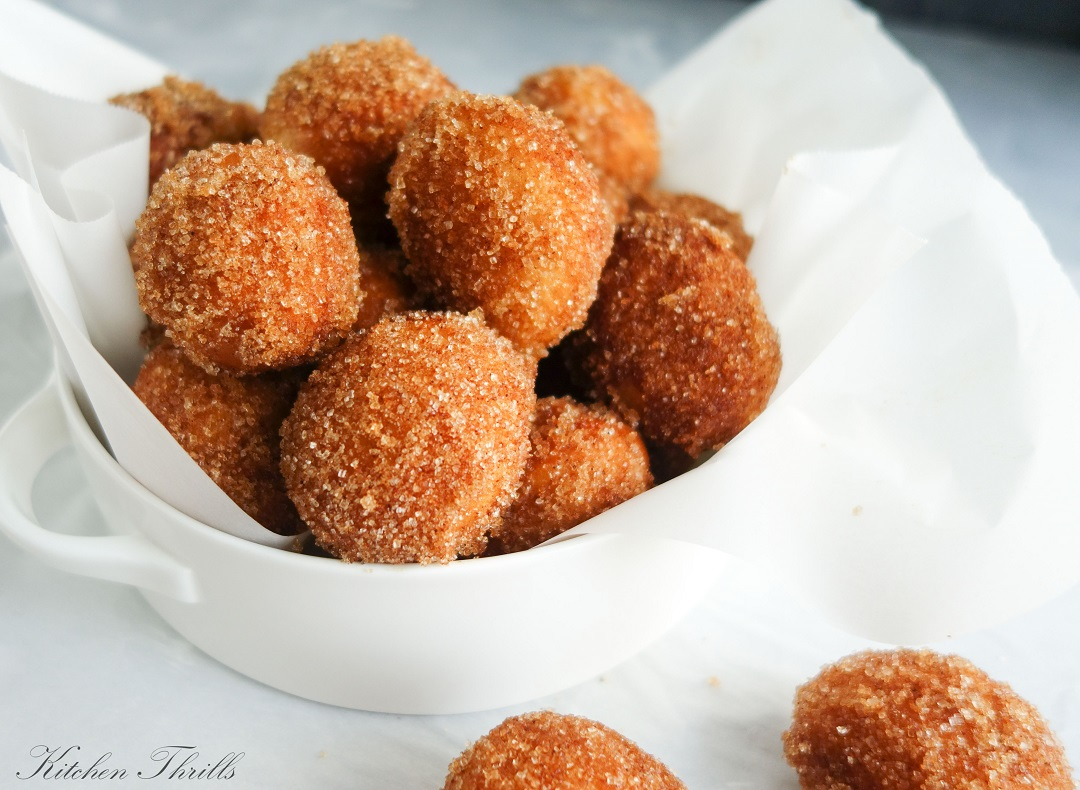 Homemade cinnamon donut holes are special treats for children especially when made at home from scratch