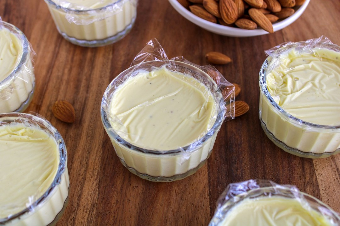 How to make a quick almond and saffron pannacotta the easy way? #diwalirecipes