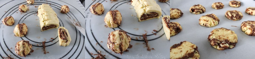 How to bake cookies with chocolate hazelnut spread the messy way. Or you can even slice and bake these cookies. #cinnamoncookies #cookierecipe #nutella