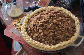 Traditional Deep Dish Apple Pie with a crumb topping