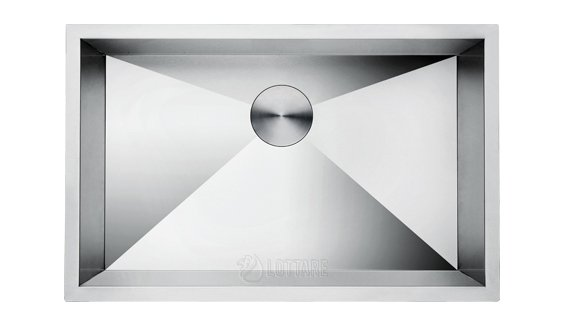 lottare 600101 stainless steel medium 16g zero radius kitchen sink