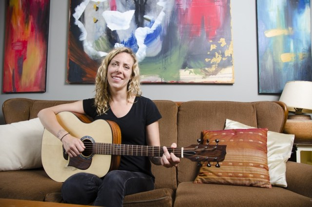 """""""I also love painting and would do more of it if I had more time,"""" says singer-songwriter Amanda Rheaume from her home off Parkdale Avenue just before launching Keep a Fire. Photo by Ted Simpson"""