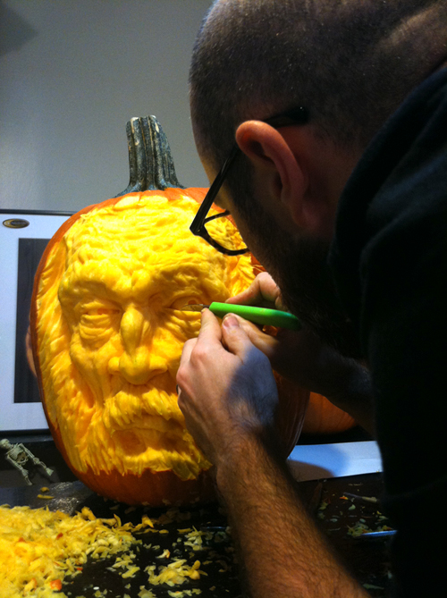 A whole new level of pumpkin carving will 