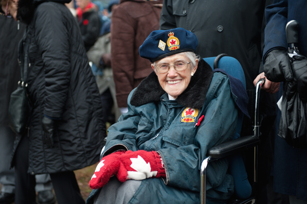 Doris Jenkins, formally of Richmond road, attends Remembrance Day 