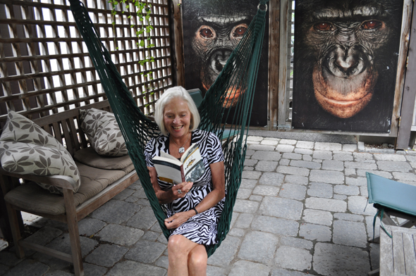 Barbara McInnes' book list is inspired by her travels. Photo by Rebecca Peng.