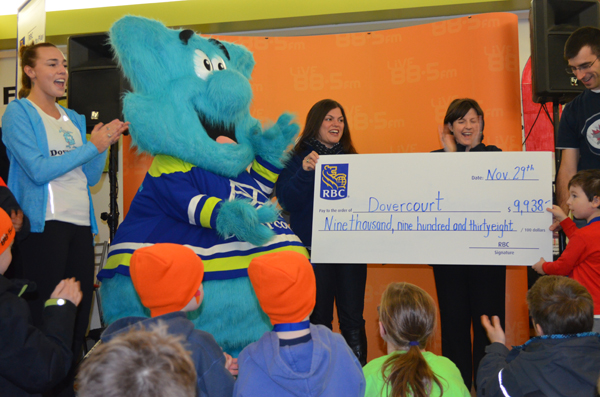 Erika Martin (left) helped receive the $10,000 grant from RBC. Photo by Jack Lawson.