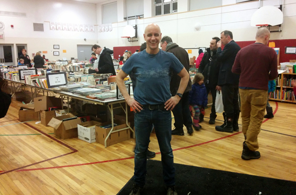 BookFest organizer Pete Laughton says the fundraiser is a fantastic way to build ties in the community and to talk about literacy. Photos byMaxine Betteridge-Moes.