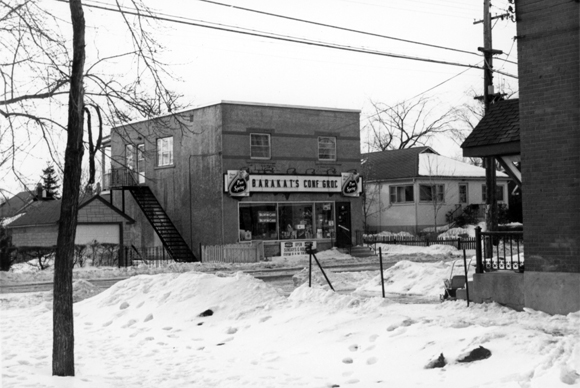 A view of Barakat's in February 1965, located at 254 Carleton Avenue. Photo courtesy of the City of Ottawa archives, CA-024760