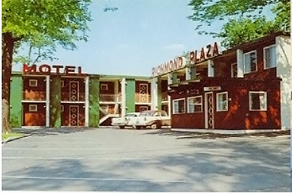 Here's a postcard view of the Richmond Plaza Motel in the 1960s. Submitted by Andrew King.