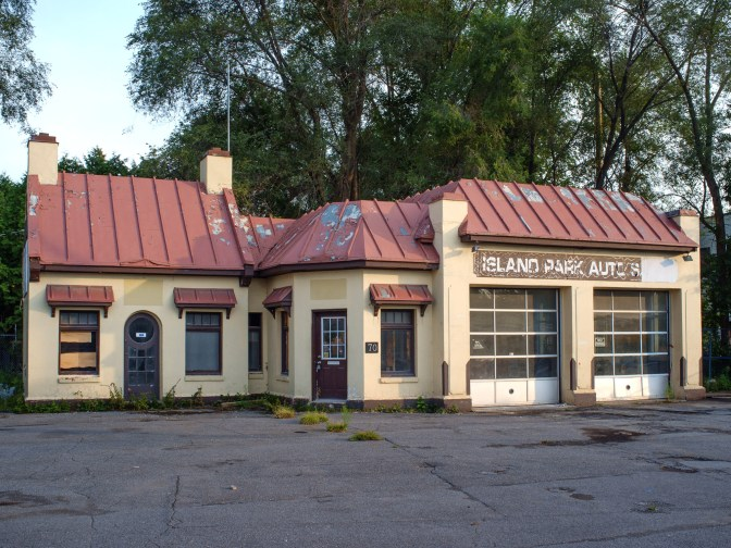 "The ""cottage"" gas station on Island Park was owned by Pierre Trudeau's father, Charles Emile Trudeau. It was a used car lot before it was shuttered in August 2014."