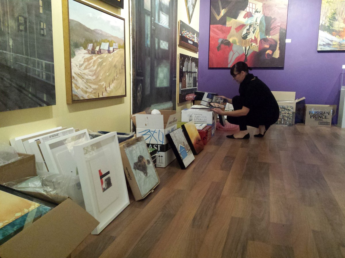 It's a big show of small art at Cube Gallery