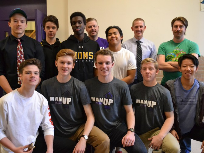 Meet the members of the Man Up Club at Nepean High School: (Back row, left to right) James Feschuk, Ryan Walsh, Jamal Boyce,John Unsworth, Patrick Santos, Chris Dunbar, Tyler Wallace. (Bottom row, left to right) Miles Lawlor, Eamon Kelly, Nicholas Cooke, Cam Dowell, Nicholas Lee. Photo by Cindy Lam