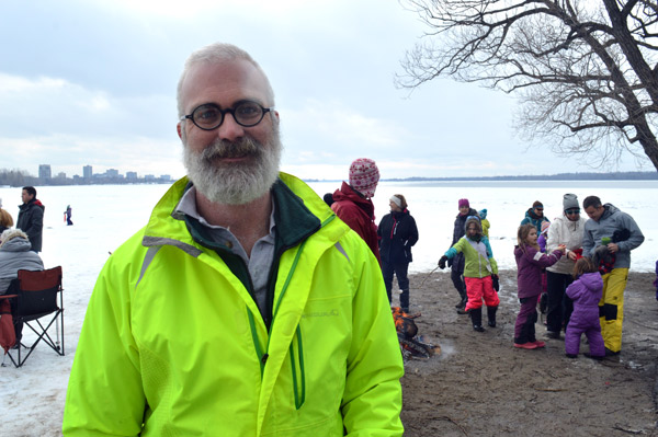 """Kitchissippi Councillor Jeff Leiper says he tries to go to all the winter carnivals in the ward. It's an easy way for him to talk to people about what's going on in the community without the political pressure. """"On a day like today it's about the snow and the marshmallows and the hot chocolate not the politics."""""""