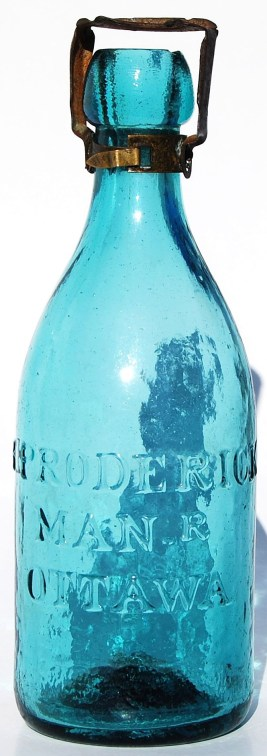 The Proderick Soda Bottle is from the Proderick confectionary. It is the oldest glass bottle known from Ottawa and dates to the 1850's and is worth $2,500 to $3,500.Photo courtesy of Scott Wallace of Maple Leaf Auctions