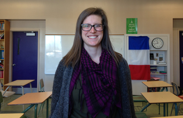 Jessica Houghton is a French teacher at Nepean HS. Photo by Cindy Lam