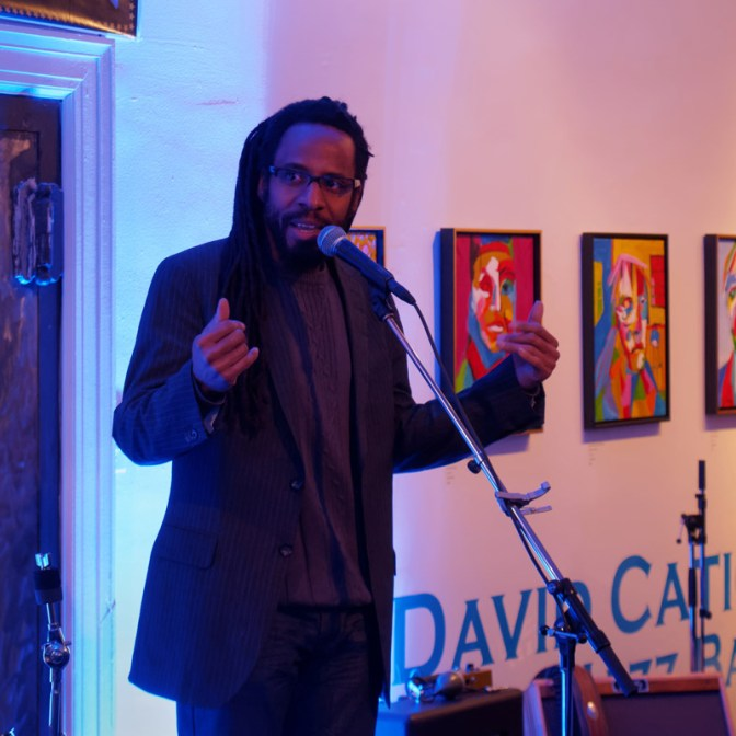 John Akpata, seen here performing spoken word, will be curating the spoken word event at this year's Westfest.