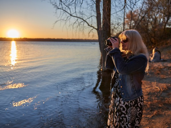 """""""I think sunsets just bring out the best in people – making them feel good and positive – and bring a bit of beauty to a day that might not have been the best for them,"""" says Nancy Mooney. Photo by Ellen Bond"""