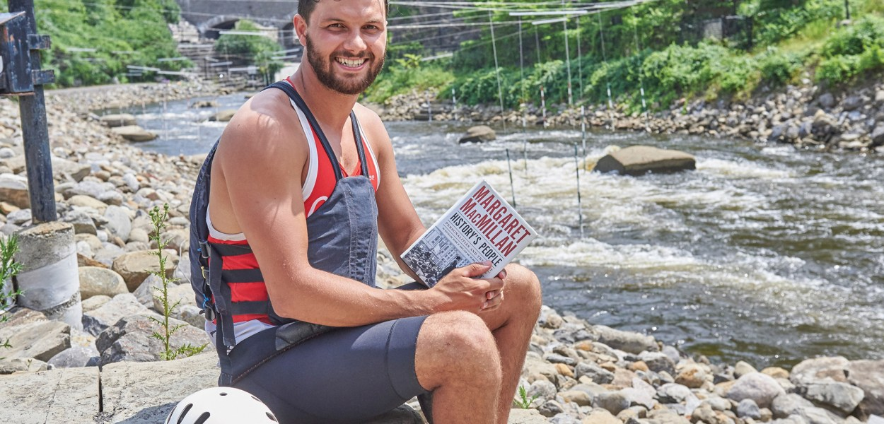 Westboro paddler Michael Tayler took some time away from his Olympic training schedule to tell KT about his summer reading list. Photo by Ellen Bond