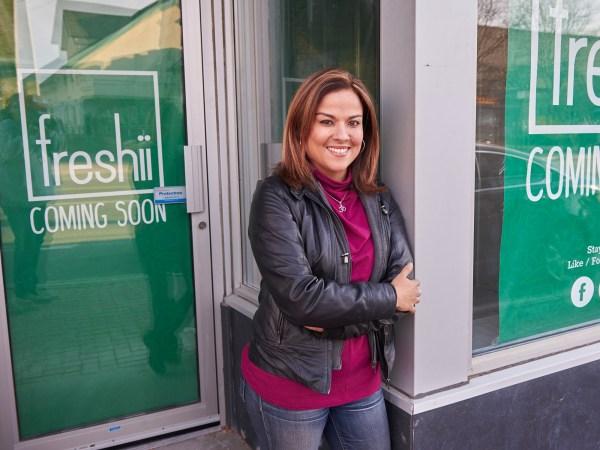 Karla Briones openeda Freshii franchise in December.Photo by Ellen Bond