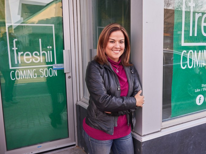 Karla Briones is bringing a Freshii franchise to Westboro. Photo by Ellen Bond