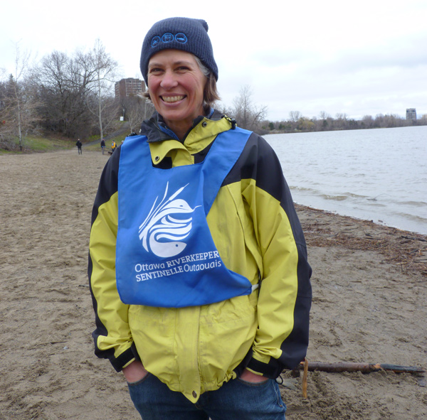 """Meredith Brown, Ottawa Riverkeeper: """"I am the Riverkeeper. It's my full-time job. It's a good fit for me. I have a background in Biology, Resource Engineering and did a Masters focused more on policy. I love this – the combination of science and grass roots and finding solutions. I was the only employee when I started 13 years ago. Now we employ 10 people full time and have hundreds of volunteers who help us out.… It's fantastic."""""""