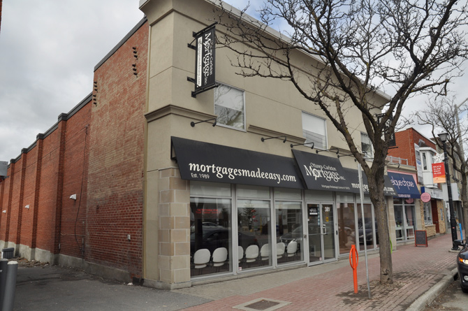 Today, the old Westboro Theatre is home to a mortgage broker. Photo by Andrea Tomkins