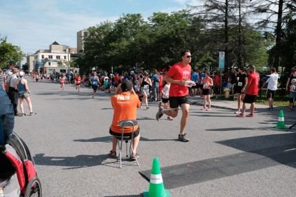 Mat Vezina reaches the finish line.