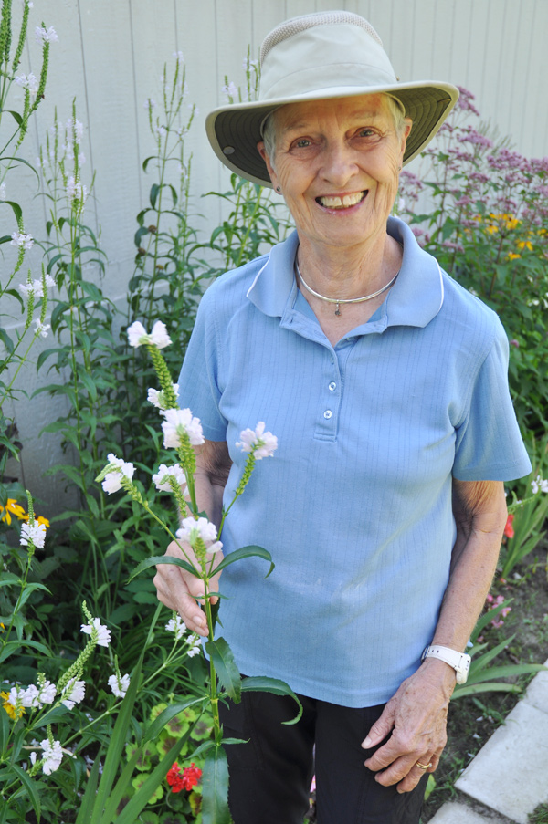 Wesley Avenue resident, Eileen Hunt, brought together her neighbours to beautify their local park. There's a special tulip-planting event planned for September 30 too. Photo by Andrea Tomkins
