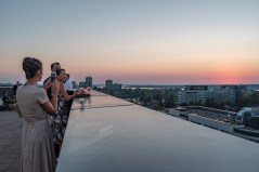 It was an Instagram worthy view of Westboro and the Ottawa River from the roof of QWest.