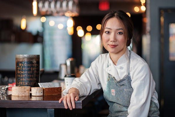 Photos of Chef Briana Kim by Ted Simpson.