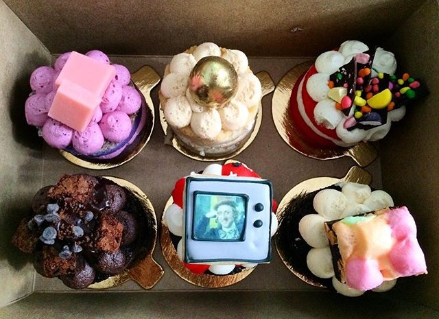 Mini cakes from a Willy Wonka series. Photo by Alix Corey (@trixxielixxie on Instagram)