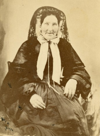 Mrs. Ann Hinton circa 1870 (nee Mills), wife of Joseph Hinton. Photo CA-18893 courtesy of the Cityof Ottawa
