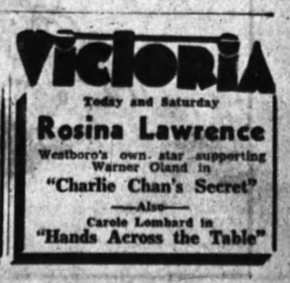 An advertisement from the The Ottawa Journal published Friday August 14, 1936.