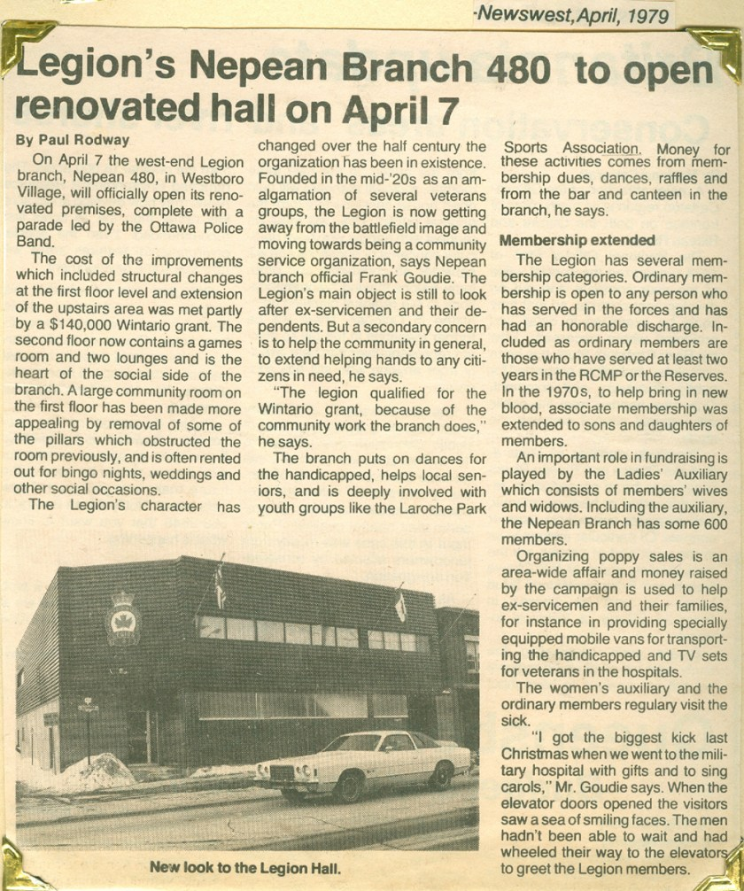 News article from 1979 about the renovation.