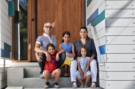 The Giammaria family: Luigi and his wife Samar, and their children Bruno (8), Atia (10), and Mila (5). Photo by Andrea Tomkins