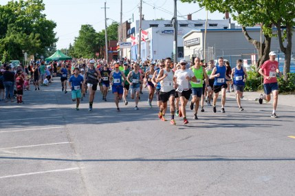 The start of the 12th annual Hintonburg 5K