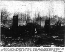Clipping about the Boyer house fire from the Ottawa Journal, December 2, 1952.