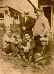 The men of the shanty village. Photo courtesy of Carole Fox.
