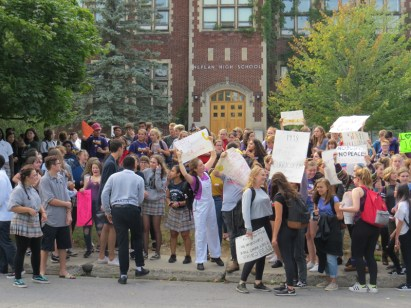 Nepean NS walkout, photo by Bella Crysler