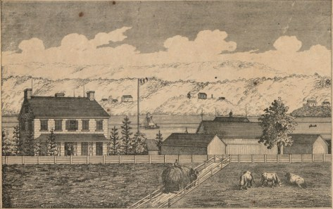 Drawing from 1863 when it was the Aylen farm.